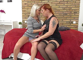 Naughty lesbian housewives getting wet and wild