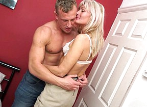 Unfavourable British housewife no laughing matter around with her younger lover