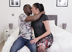 Naughty British housewife goes interracial