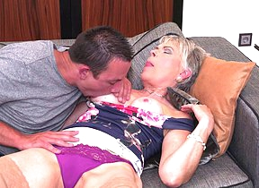 Naughty Lady Sextasy doing her younger boyfriend