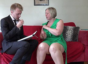 Curvy British mature lady doing her plaything boy