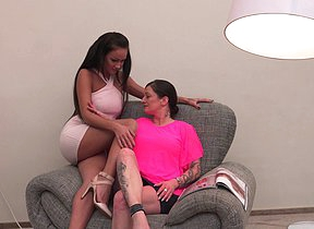 Naughty mature lesbians go all the way