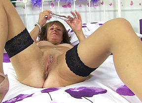 Naughty British mature lady carryingon with her
