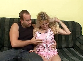 Young stud finds this mature mommy quite tight