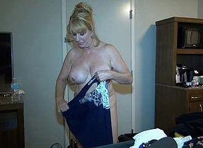 Mature blonde feels kind of horny with will not hear of step son filming will not hear of when naked around the house and fully exposed with will not hear of big tits and pussy being in the first place