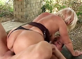 Naked mature lady rides cock in anal scenes