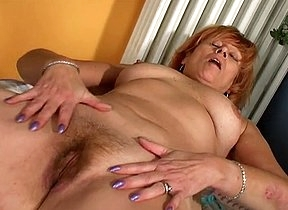 Mind blowing solo action with a horny mature