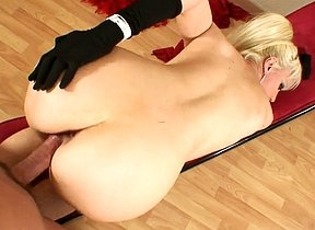 Horny pain in the neck mature beauty kneels before cock for a few rounds of extra messy blowjob in advance to feel the fucker ruining her pussy and especially that tight pain in the neck