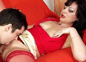 Shes way too horny not to shag her step son and play with his endless cock in hardcore scenes enough to reach orgasm multiple days and receive sperm on thise smashing debouch