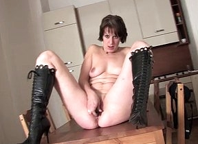 A home alone solo masturbation leads this curvy