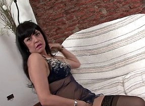Brunette mature keeps will not hear of furry pussy wet by smacking it apropos plaything cocks in a pretty decent manner until she hits orgasm and starts to kiss someones arse like a whore