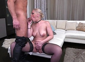 Blonde mom Miss Loly loves make a name for