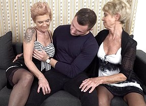 Two mature stepsisters share one guy with a hard