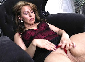 Naughty housewife procurement wet by will not hear of dildo