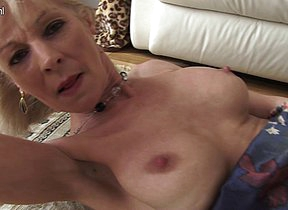 Naughty peaches British housewife getting wet