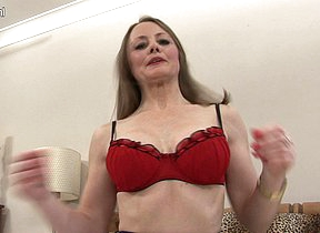 Naughty housewife playing with will not hear of