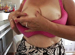 Horny housewife Janice loves to get wet and flagitious