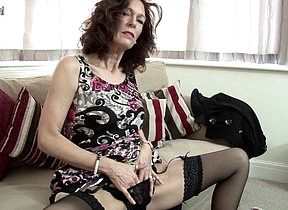 Hot British cougar sets will not hear of pussy on fire