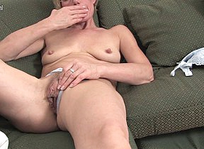 Horny blonde housewife and say no to toy