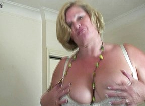 Big breasted mature slut playing all round herself