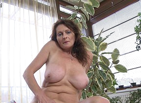 Piping hot big breasted mature slut getting wet and wild