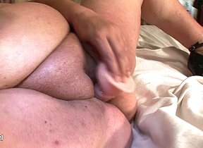 Big mama squirts and gets a exposure full of cum